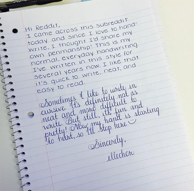 Những nét chữ viết tay hoàn hảo khiến font máy tính cũng phải chào thua - Ảnh 2.