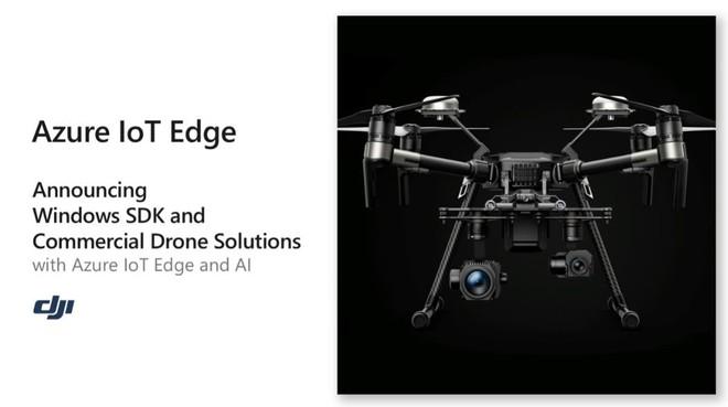 [Microsoft Build 2018] Microsoft hợp tác với DJI của Trung Quốc, mang nền tảng đám mây Azure và AI lên các sản phẩm drone - Ảnh 1.