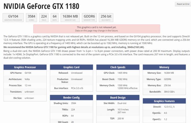 Hé lộ thông số kỹ thuật của VGA GTX 1180, dự kiến sẽ xuất hiện tại sự kiện Computex sắp tới - Ảnh 1.