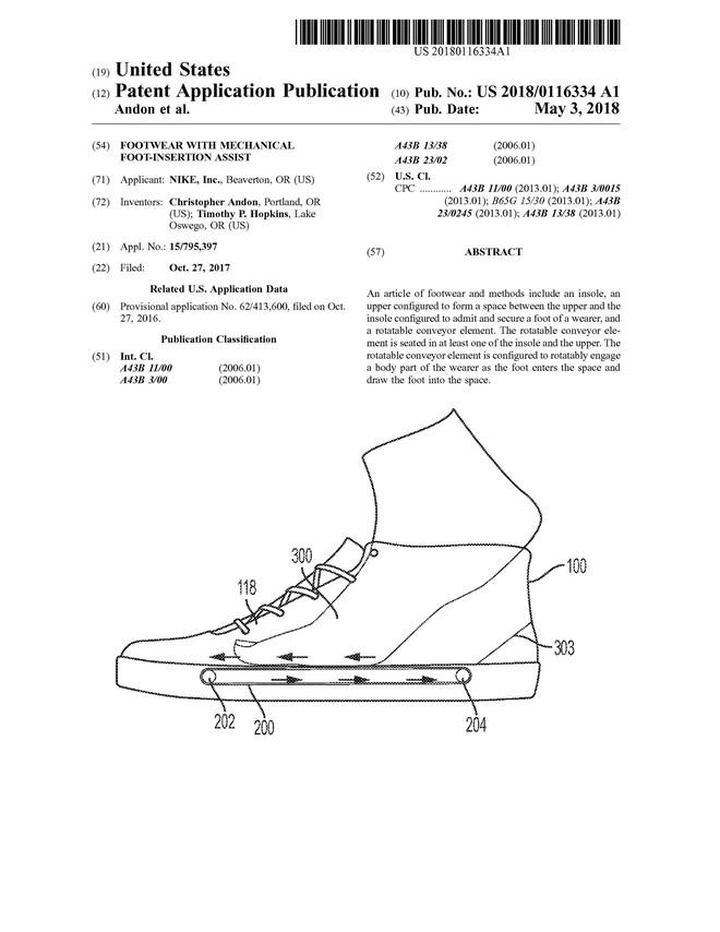 Nike nộp bằng sáng chế về hệ thống băng chuyền trong đế giày, giúp xỏ/tháo giày dễ dàng hơn - Ảnh 2.