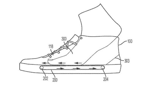 Nike nộp bằng sáng chế về hệ thống băng chuyền trong đế giày, giúp xỏ/tháo giày dễ dàng hơn - Ảnh 1.