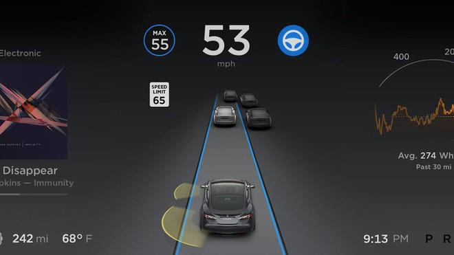 [Video] Cùng tham gia giao thông dưới góc nhìn của chế độ tự lái Autopilot trên xe điện Tesla - Ảnh 1.