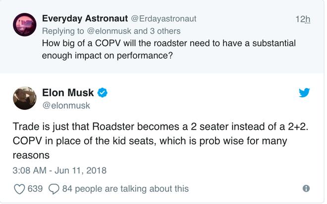Elon Musk nghiêm túc muốn gắn tên lửa vào xe Tesla Roadster, ai mà muốn thì phải từ bỏ băng ghế sau - Ảnh 3.