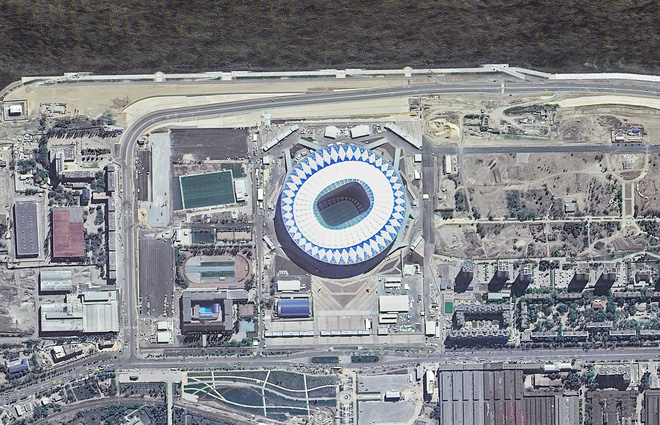 Chiêm ngưỡng toàn bộ các sân vận động phục vụ World Cup 2018 qua loạt ảnh chụp từ Trạm Vũ trụ Quốc tế - Ảnh 2.