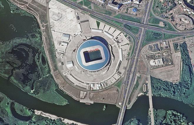 Chiêm ngưỡng toàn bộ các sân vận động phục vụ World Cup 2018 qua loạt ảnh chụp từ Trạm Vũ trụ Quốc tế - Ảnh 4.