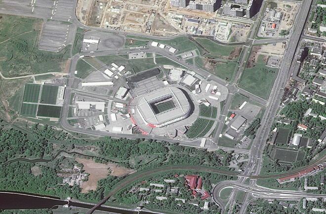 Chiêm ngưỡng toàn bộ các sân vận động phục vụ World Cup 2018 qua loạt ảnh chụp từ Trạm Vũ trụ Quốc tế - Ảnh 11.