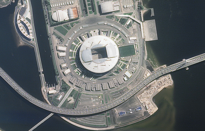 Chiêm ngưỡng toàn bộ các sân vận động phục vụ World Cup 2018 qua loạt ảnh chụp từ Trạm Vũ trụ Quốc tế - Ảnh 12.