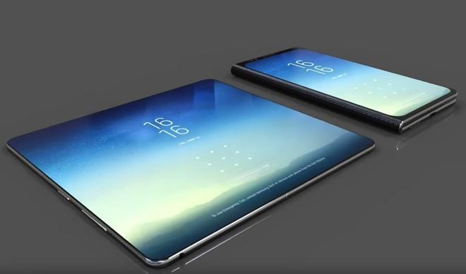 Galaxy X phiên bản thử nghiệm có thiết kế hai màn hình ghép tương tự như ZTE Axon M - Ảnh 1.