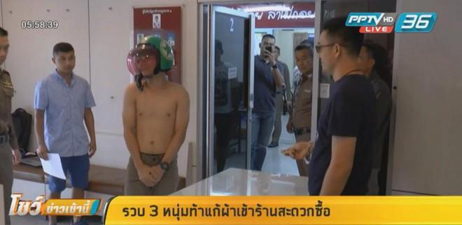 Bắt chước Youtuber nước ngoài, 3 thanh niên Thái Lan xông vào cửa hàng 7-Eleven trong tình trạng trần như nhộng rồi bị bắt - Ảnh 6.