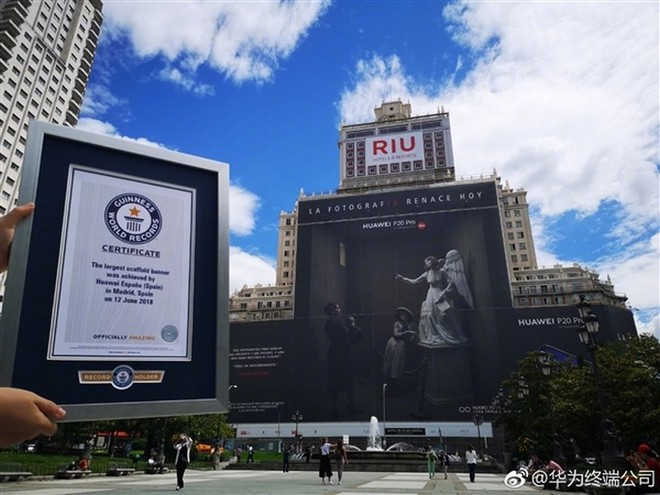 Huawei xuất sắc phá kỷ lục biển quảng cáo lớn nhất thế giới với chiếc Huawei P20 Pro - Ảnh 4.