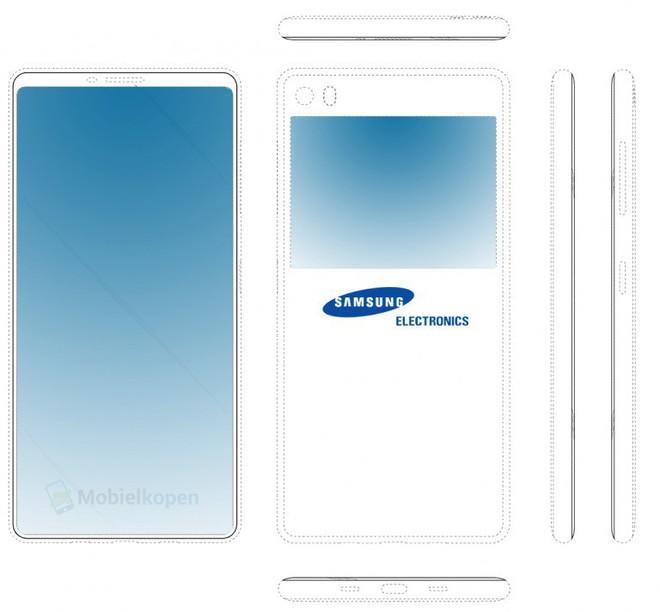 Samsung vừa công bố bằng sáng chế smartphone với thiết kế mặt trước mới và có màn hình phụ ở mặt lưng - Ảnh 2.