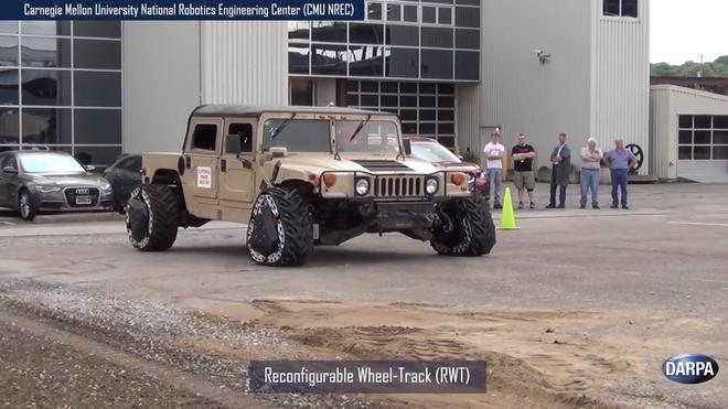 DARPA phát minh lại cái bánh xe, thay đổi được hình dạng ngay khi đang di chuyển - Ảnh 1.