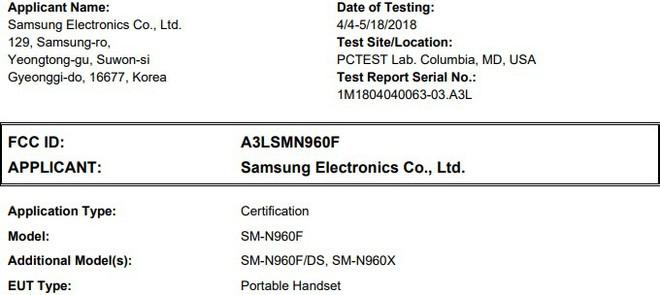 Samsung Galaxy Note 9 được FCC cấp chứng nhận, ngày ra mắt đã cận kề? - Ảnh 1.