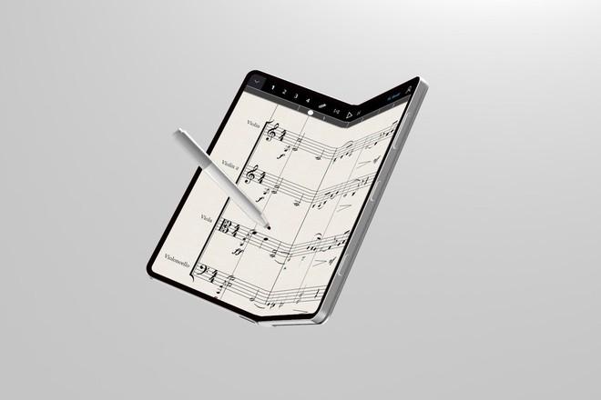 Bất ngờ với hình ảnh concept đẹp đến ngỡ ngàng của smartphone màn hình gập Surface Phone - Ảnh 2.