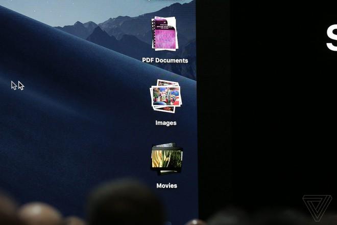 Desktop Stacks sẽ cho phép người dùng dễ dàng sắp xếp các tệp tin ngoài màn hình thành những file lớn theo chủ đề.