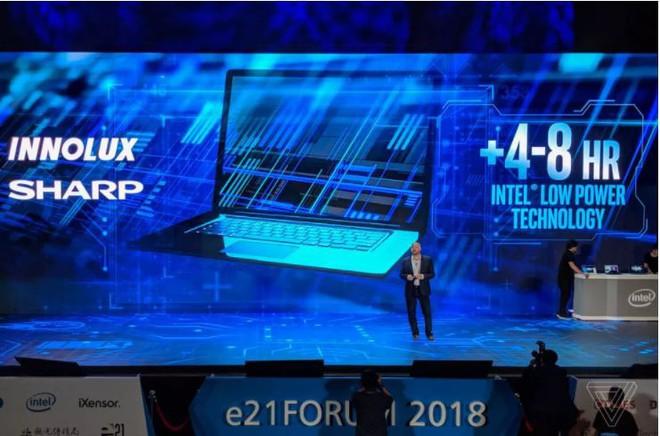 [Computex 2018] Intel ra mắt công nghệ màn hình mới giúp tăng thời lượng pin laptop lên 4 - 8 giờ - Ảnh 1.