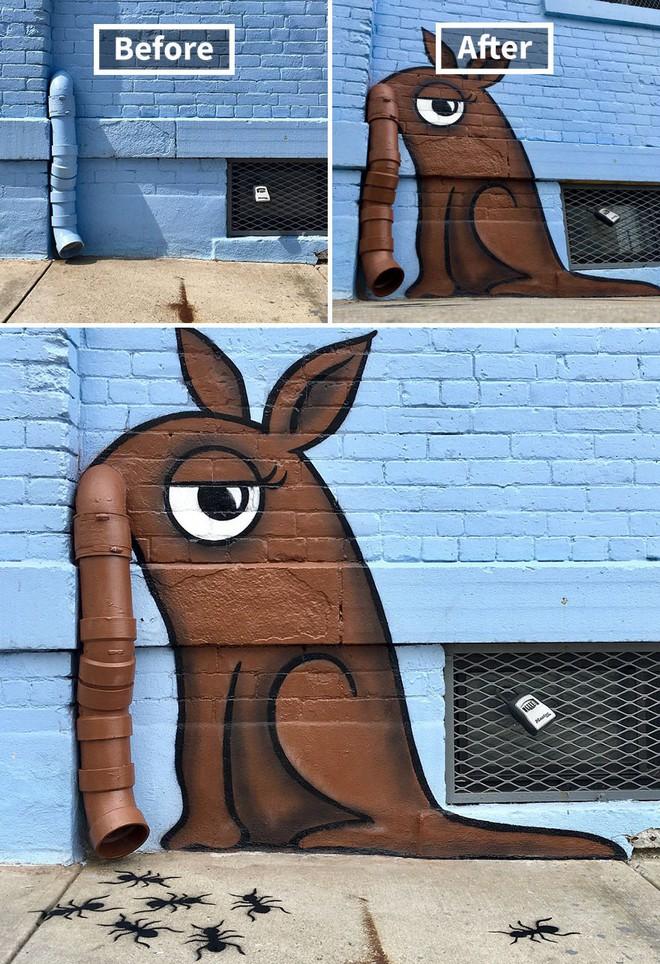 Nhờ graffiti, những khung cảnh buồn tẻ nhất ở New York bỗng trở nên đẹp đẽ đến lạ thường - Ảnh 6.