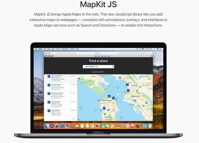 Apple chính thức cho phép người dùng, doanh nghiệp nhúng Apple Maps vào trang web riêng - Ảnh 1.