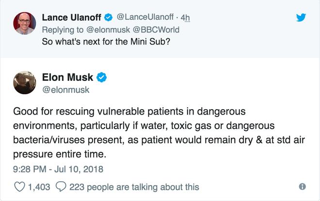 Chiếc tàu ngầm trẻ em dùng để giải cứu đội bóng Thái bị chê là không thực tiễn, Elon Musk lập tức nổi cơn tam bành trên Twitter - Ảnh 3.