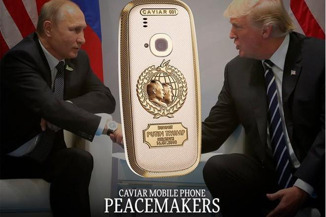 Caviar sản xuất Nokia 3310 khung titan mạ vàng 24k để kỷ niệm cuộc gặp lịch sử giữa Trump và Putin - Ảnh 1.