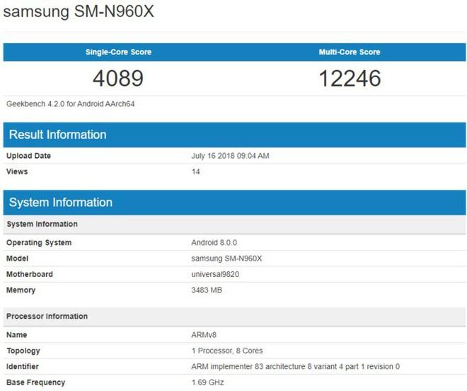 Chip Exynos 9820 của Samsung bất ngờ xuất hiện trong bài test hiệu năng của Galaxy Note9? - Ảnh 2.
