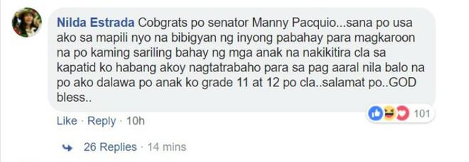 Hứa hẹn tặng 60 ngôi nhà, trang Facebook Manny Pacquiao giả mạo khiến dân mạng Philippines điên đảo - Ảnh 3.