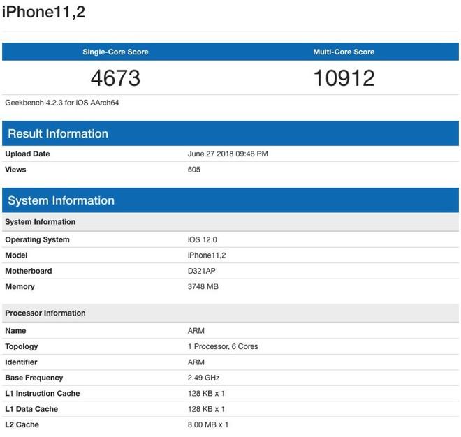 Lộ diện kết quả benchmark đầu tiên của iPhone X Plus: hiệu năng tuyệt đỉnh mà Android nằm mơ mới có - Ảnh 2.