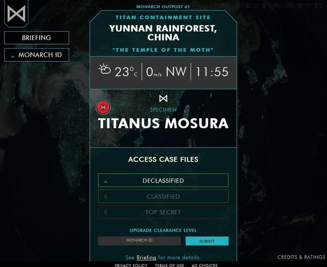 Thích thú với website của tổ chức Monarch đến từ phim Godzilla tạo ra giúp fan nghiên cứu về quái vật - Ảnh 3.