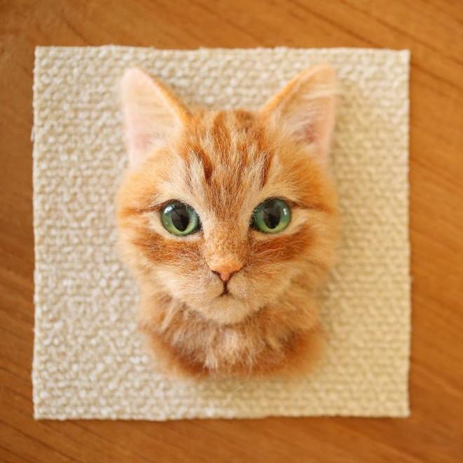 Nghệ sĩ Nhật Bản khiến cư dân mạng trầm trồ vì khả năng tạo hình mèo 3D từ len giống y như mèo thật - Ảnh 4.