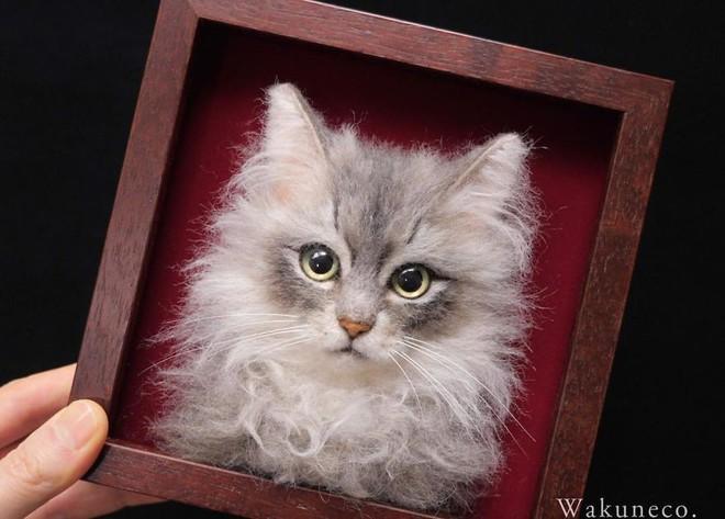 Nghệ sĩ Nhật Bản khiến cư dân mạng trầm trồ vì khả năng tạo hình mèo 3D từ len giống y như mèo thật - Ảnh 6.