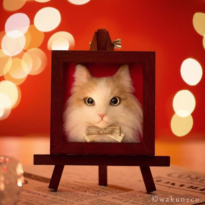 Nghệ sĩ Nhật Bản khiến cư dân mạng trầm trồ vì khả năng tạo hình mèo 3D từ len giống y như mèo thật - Ảnh 7.
