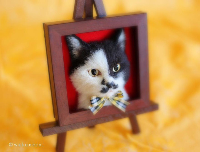 Nghệ sĩ Nhật Bản khiến cư dân mạng trầm trồ vì khả năng tạo hình mèo 3D từ len giống y như mèo thật - Ảnh 8.