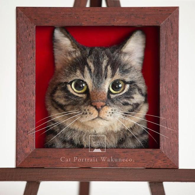 Nghệ sĩ Nhật Bản khiến cư dân mạng trầm trồ vì khả năng tạo hình mèo 3D từ len giống y như mèo thật - Ảnh 9.