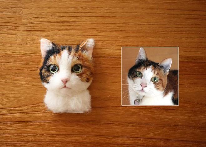 Nghệ sĩ Nhật Bản khiến cư dân mạng trầm trồ vì khả năng tạo hình mèo 3D từ len giống y như mèo thật - Ảnh 10.