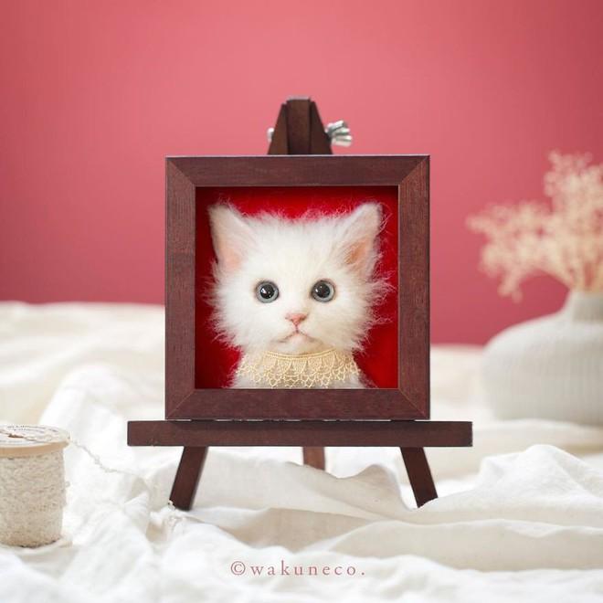 Nghệ sĩ Nhật Bản khiến cư dân mạng trầm trồ vì khả năng tạo hình mèo 3D từ len giống y như mèo thật - Ảnh 11.