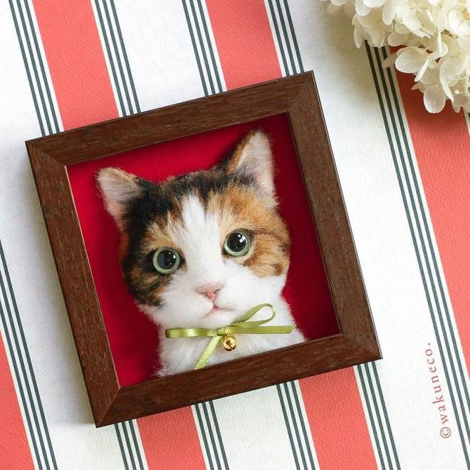 Nghệ sĩ Nhật Bản khiến cư dân mạng trầm trồ vì khả năng tạo hình mèo 3D từ len giống y như mèo thật - Ảnh 12.