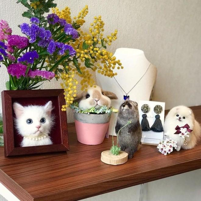 Nghệ sĩ Nhật Bản khiến cư dân mạng trầm trồ vì khả năng tạo hình mèo 3D từ len giống y như mèo thật - Ảnh 13.