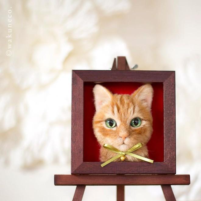 Nghệ sĩ Nhật Bản khiến cư dân mạng trầm trồ vì khả năng tạo hình mèo 3D từ len giống y như mèo thật - Ảnh 14.
