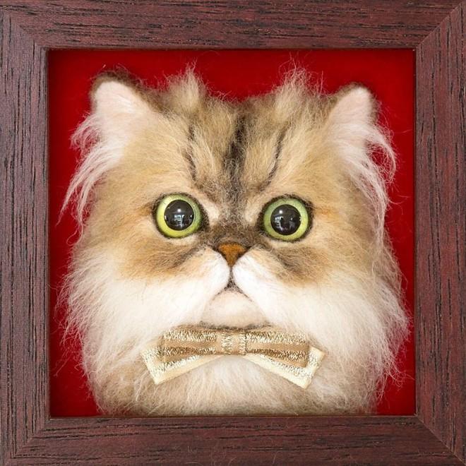 Nghệ sĩ Nhật Bản khiến cư dân mạng trầm trồ vì khả năng tạo hình mèo 3D từ len giống y như mèo thật - Ảnh 15.
