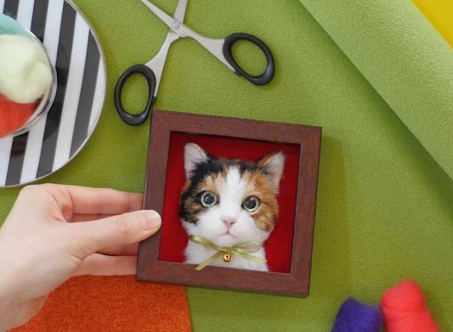 Nghệ sĩ Nhật Bản khiến cư dân mạng trầm trồ vì khả năng tạo hình mèo 3D từ len giống y như mèo thật - Ảnh 16.