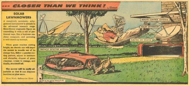 Vào năm 1959, máy cắt cỏ năng lượng mặt trời chính là tương lai mà người Mỹ khiếp sợ - Ảnh 1.