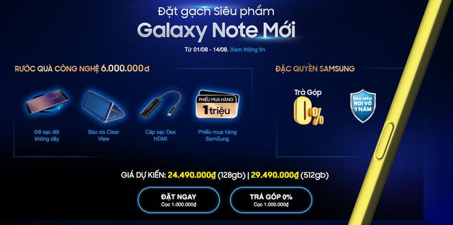 Samsung chưa công bố, các nhà bán lẻ VN đã cho đặt trước Galaxy Note9: 24.5 triệu bản 128GB, 29.5 triệu bản 512GB, mở bán 24/8 - Ảnh 1.