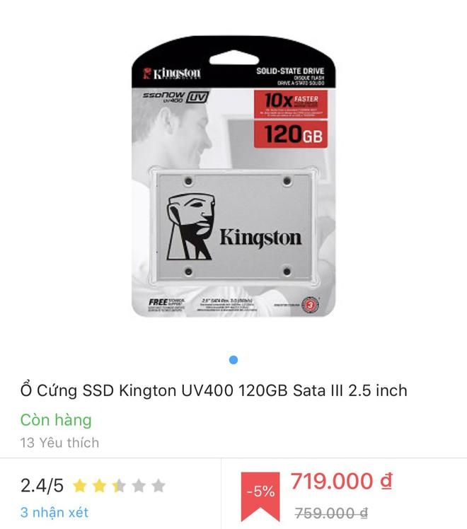 SSD Kingston nhái bày bán tràn lan trên thị trường với nhiều thủ đoạn tinh vi - Ảnh 1.