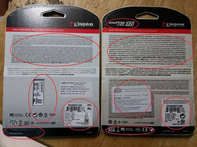 SSD Kingston nhái bày bán tràn lan trên thị trường với nhiều thủ đoạn tinh vi - Ảnh 7.