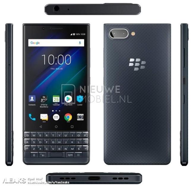 BlackBerry KEY2 LE lộ diện mọi góc độ trong ảnh dựng mới rò rỉ - Ảnh 1.