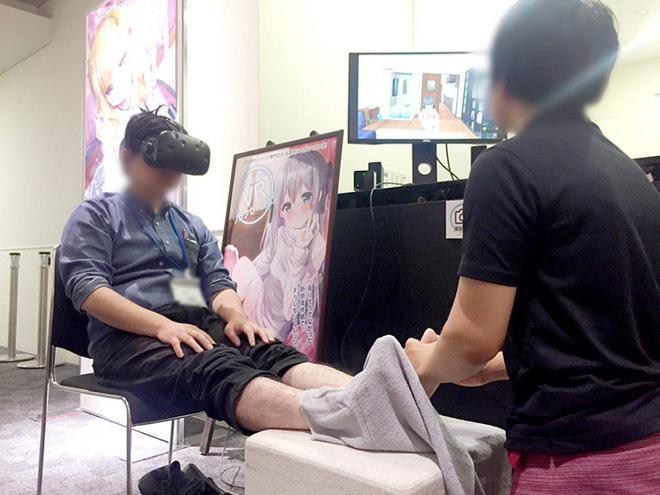 Công ty Nhật cung cấp dịch vụ mát-xa chân thực tế ảo, nhưng người thực hiện lại là đàn ông - Ảnh 2.