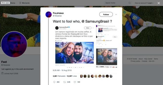 Samsung Brazil bị phát hiện dùng ảnh chụp bởi camera DSLR để quảng cáo Galaxy A8 - Ảnh 1.