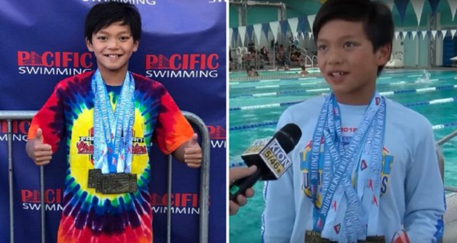 Mới 10 tuổi, cậu bé này đã phá kỷ lục bơi tự do 100m mà Michael Phelps nắm giữ 23 năm về trước - Ảnh 2.