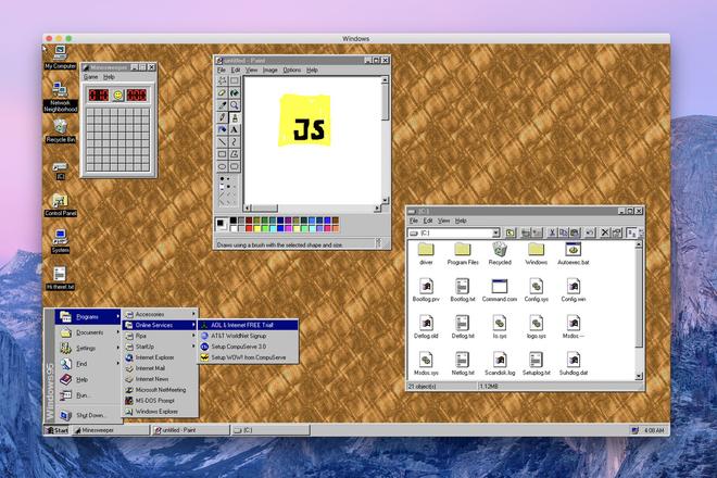 Tải ngay ứng dụng này để trải nghiệm Windows 95 trên cả macOS và Windows - Ảnh 1.