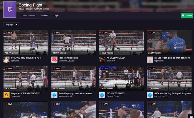 Trận so găng giữa hai YouTuber Logan Paul và KSI được phát trực tiếp trên YouTube, nhưng số lượng người xem lậu trên Twitch lại đông hơn nhiều - Ảnh 2.